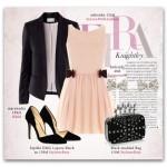 Romantyczna sukienka w połaczeniu z klasycznymi szpilkami i rockową torebką - to lubimy!
