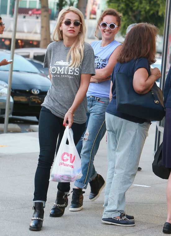 51218011 UK singer Rita Ora and a friend stopping by a CVS Pharmacy for a few items in West Hollywood, California on September 25, 2013 FameFlynet, Inc - Beverly Hills, CA, USA - +1 (818) 307-4813