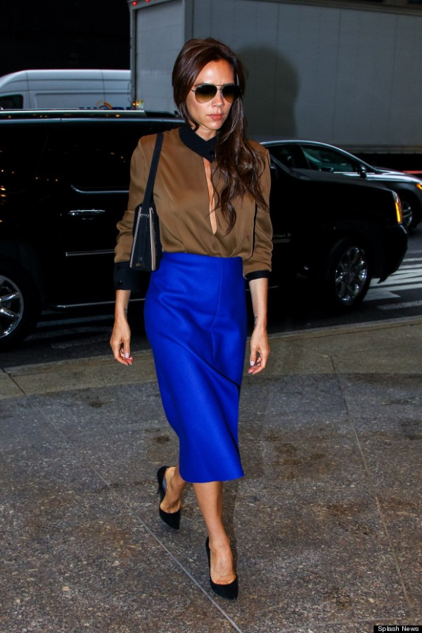 Victoria Beckham promotes her fashion while doing business in NYC